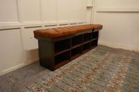 Long Mahogany Chesterfield Hall Seat Shoe Tidy (4 of 8)