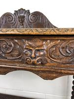 Victorian Gothic Oak Side Table with Green Man Details (14 of 17)