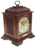 Vintage English Westminster Chime Bracket Clock – Solid Mahogany Musical Mantel Clock (3 of 10)
