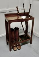 A Golden Oak Hall Table Stick Stand, (4 of 7)