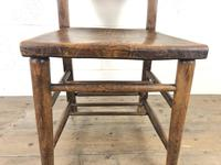 Set of Four Victorian Elm Chapel Chairs (3 of 8)