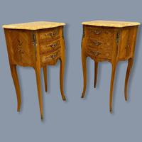 Pair of Marquetry & Marble Top Side Tables (8 of 8)