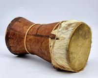 Small Handcrafted African Bongo with Genuine Hide (2 of 8)
