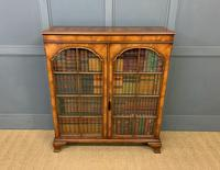 Good Burr Walnut Glazed 2 Door Bookcase (8 of 15)
