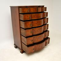 Large Antique Burr Walnut Chest of Drawers (10 of 11)