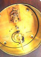 Impressive Mahogany Edwardian Lancet Clock Burr Walnut Inlay Timepiece Mantel Clock (8 of 8)
