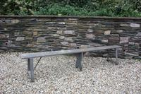 19th Century Painted Pine Bench (3 of 3)