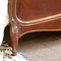 Understated Louis XV Dark Walnut Antique Bed (6 of 6)
