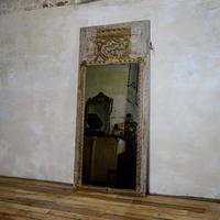 Elegant 19th Century French Original Painted Trumeau Mirror (2 of 13)