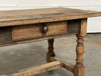 French Rustic Bleached Oak Coffee Table (6 of 17)