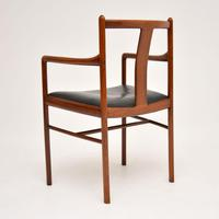 Danish Vintage Rosewood & Leather Armchair / Desk Chair (3 of 12)