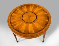 19th Century Satinwood Circular Centre Table (5 of 5)