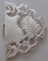 Edwardian Birmingham 1910 Hallmarked Solid Silver Nurses Belt Buckle (5 of 9)