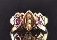 Antique Victorian Amethyst and Pearl Ring, 9ct Rose Gold (9 of 10)