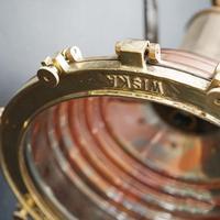 Original Large Copper Fluted Ships Cargo Light (8 of 8)