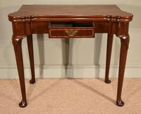 Early 18th Century Inlaid Pad Foot Card Table (2 of 9)