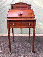 Edwardian Inlaid Mahogany Writing Desk (7 of 10)