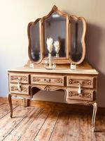 French Antique Dressing Table / Vintage Dressing Table / Louis XV Style Vanity (6 of 6)