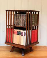 Edwardian Small Proportioned Low Mahogany Revolving Bookcase (3 of 10)