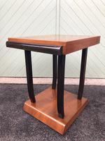 Art Deco Walnut & Ebonised Table (5 of 9)