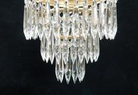 Italian Art Deco Three Tier Crystal Glass Chandelier, 1930s (3 of 6)