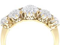 3.29ct Diamond & 18ct Yellow Gold Five Stone Ring c.1925 (2 of 9)