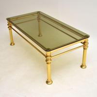 Vintage 1970's Brass & Glass Coffee Table (7 of 7)