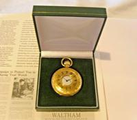 Vintage Swiss Waltham Pocket Watch 1970s 17 Jewel 12ct Gold Plated Half Hunter FWO (12 of 12)