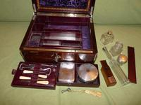 Quality Edge Bound Rosewood Gents Fitted Dressing Box c.1850 (9 of 16)