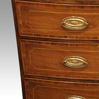 Regency Inlaid Bow Fronted Chest (5 of 10)