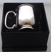 1933 Hallmarked Solid Silver 1/2 Half Pint Tankard Christening Mug E Viner (2 of 8)