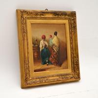 Antique Oil Painting in Gilt Wood Frame (2 of 9)