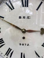 Antique Mahogany Fusee Railway Station Dial Clock (2 of 10)