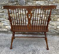 Unusual Oak Arts & Crafts Bench (8 of 18)