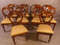 Set of 10 Victorian Mahogany Balloon Back Dining Chairs (3 of 12)