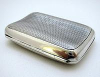 Edwardian 1902 English Antique Solid Sterling Silver Hip Pocket Small Cigarette Case (5 of 10)