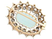 2.99 ct Opal and 0.96 ct Diamond, 9 ct Yellow Gold Brooch - Antique Victorian (9 of 9)