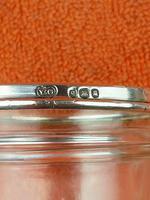 Antique Sterling Silver Hallmarked  Cut Glass Cup Mug 1932, Walter Gardener Groves, London (4 of 8)