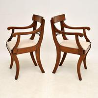 Pair of Antique Regency Period Mahogany Carver Armchairs (3 of 11)