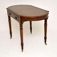 Antique  Victorian Mahogany Leather Top Writing Table / Desk (6 of 9)