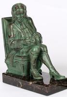 Max Le Verrier Pair Art Deco Patinated Bronze The Cobbler & The Financier Bookends (11 of 18)