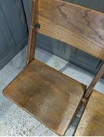 Vintage Oak Collapsible Pew Chairs c.1910 (3 of 5)