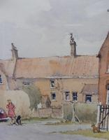 Watercolour Country Village Exhibited Artist Tony Hunter (5 of 10)