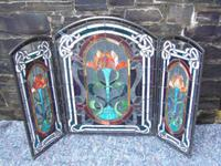 Arts & Crafts Leaded Glass Fire Screen (9 of 14)