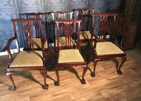 Set of six Edwardian Mahogany Dining Chairs (4 of 11)