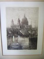 Lucien Gautier - Late 19th Century Etching of St Paul's Cathedral (2 of 6)