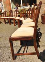 Set of 8 Hepplewhite Style Mahogany Dining Chairs (7 of 12)