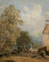 William Charles Goddard (exh.1885) Stunning Country Watermill Landscape Painting (9 of 15)
