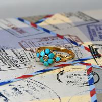 The Antique Eight Turquoise & Diamond Ring (2 of 5)