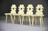 4 Yellow Alpine Chairs